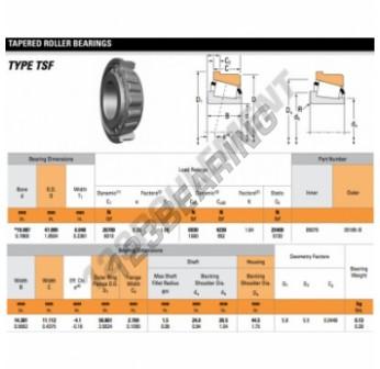 05079-05185-B-TIMKEN - 20x47x14.38 mm