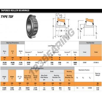 07087-07196-B-TIMKEN - 22.23x50.01x6.75 mm