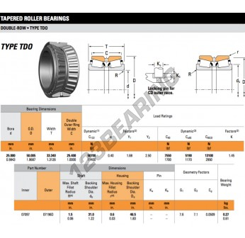 07097-07196D-TIMKEN - 25x50.01x33.34 mm
