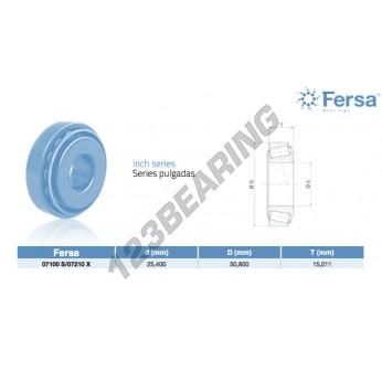 07100S-07210X-ASFERSA - 25.4x50.8x15.01 mm