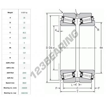 100035-100072G-GAMET - 35x72x57 mm