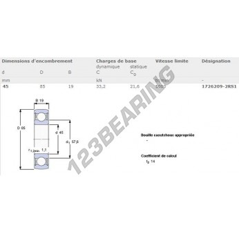 1726209-2RS1-SKF - 45x85x19 mm