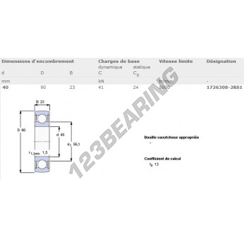 1726308-2RS1-SKF - 40x90x23 mm