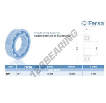 6211-ASFERSA - 55x100x21 mm