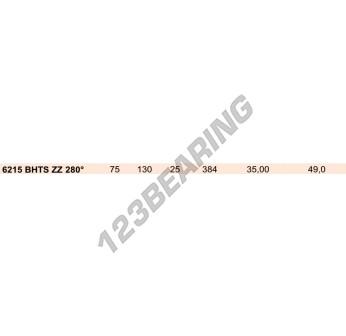 6215-ZZ-BHTS280 - 75x130x25 mm