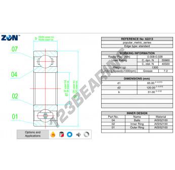 62213-ZEN - 65x120x31 mm