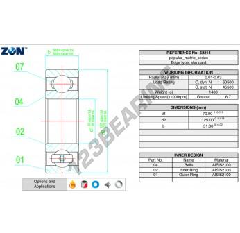 62214-ZEN - 70x125x31 mm