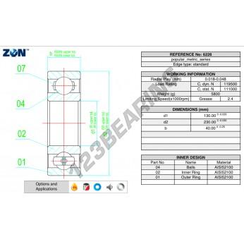 6226-ZEN - 130x230x40 mm