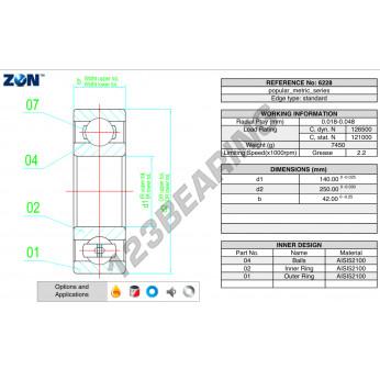 6228-ZEN - 140x250x42 mm