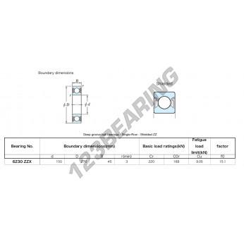 6230-ZZX-KOYO - 150x270x45 mm