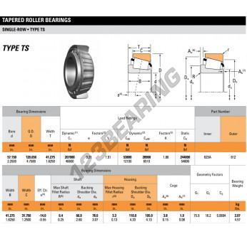 623A-612-TIMKEN - 57.15x120.65x41.28 mm