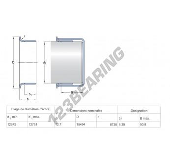 99050-SKF - 12.7x9.93 mm
