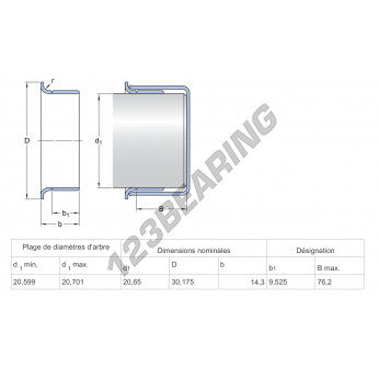99083-SKF - 20.65x14.3 mm