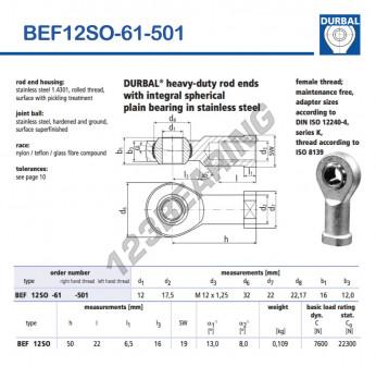BEF12SO-61-501-DURBAL