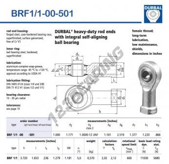 BRF1-1-00-501-DURBAL - 25.4x63.98x30.99 mm