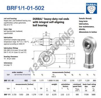 BRF1-1-01-502-DURBAL - 25.4x63.98x30.99 mm