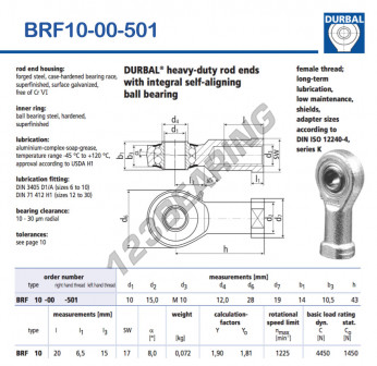 BRF10-00-501-DURBAL - 10x28x14 mm
