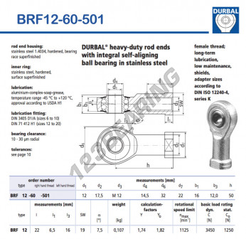 BRF12-60-501-DURBAL - 12x32x16 mm