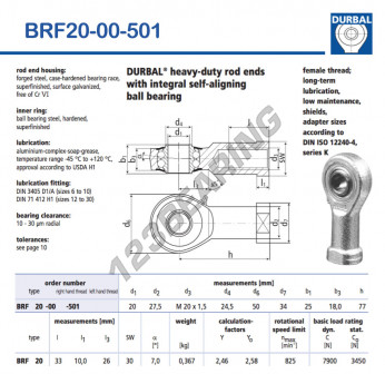 BRF20-00-501-DURBAL - 20x50x25 mm