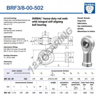 BRF3-8-00-502-DURBAL - 9.53x27.99x14 mm