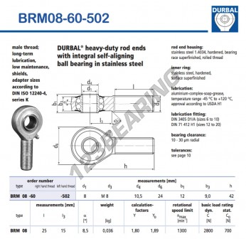 BRM08-60-502-DURBAL - x8 mm