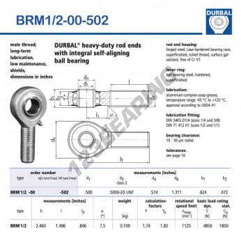 BRM1-2-00-502-DURBAL - x12.7 mm