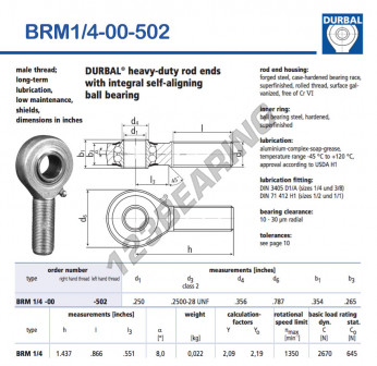 BRM1-4-00-502-DURBAL - x6.35 mm