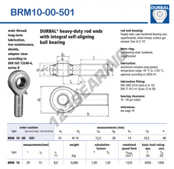 BRM10-00-501-DURBAL - x10 mm