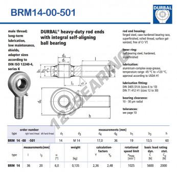 BRM14-00-501-DURBAL - x14 mm