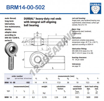 BRM14-00-502-DURBAL - x14 mm