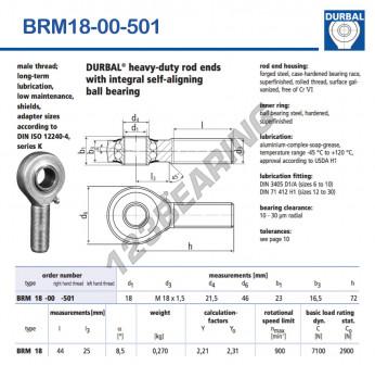 BRM18-00-501-DURBAL - x18 mm