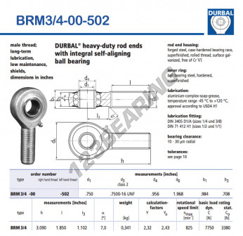 BRM3-4-00-502-DURBAL - x19.05 mm