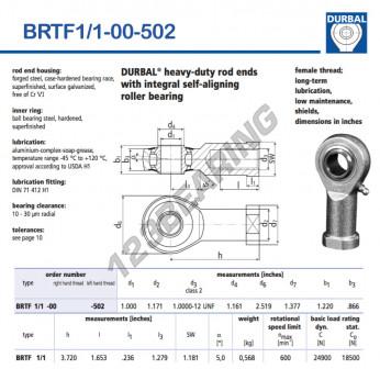 BRTF1-1-00-502-DURBAL - 25.4x63.98x30.99 mm