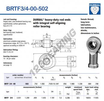 BRTF3-4-00-502-DURBAL - 19.05x49.99x24.99 mm