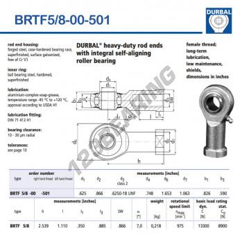 BRTF5-8-00-501-DURBAL - 15.87x41.99x20.98 mm
