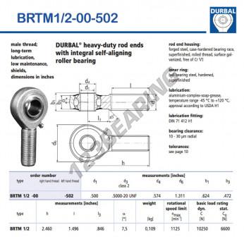 BRTM1-2-00-502-DURBAL - x12.7 mm