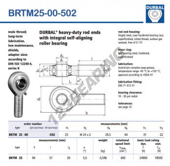 BRTM25-00-502-DURBAL - x25 mm