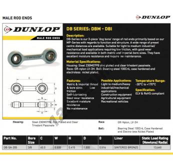 DB-SA-205-DUNLOP - 9.52x60x0.5 mm