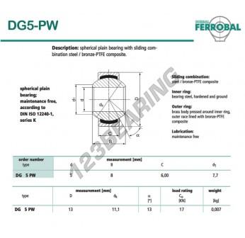 DG5-PW-DURBAL - 5x13x6 mm