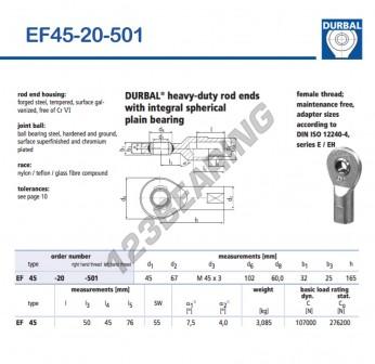 EF45-20-501-DURBAL