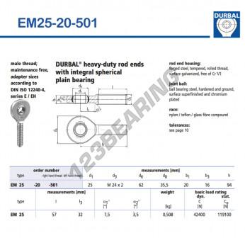 EM25-20-501-DURBAL