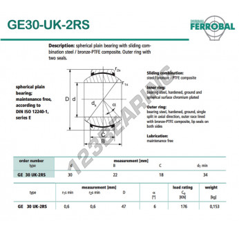 DGE30-UK-2RS-DURBAL