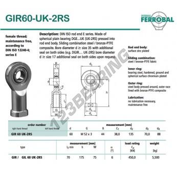 GIR60-UK-2RS-DURBAL