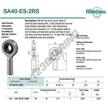 SA40-ES-2RS-DURBAL