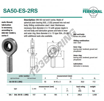 DSA50-ES-2RS-DURBAL