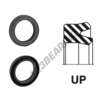 UP-16.5X26X6.35-NBR90 - 16.5x26x6.35 mm
