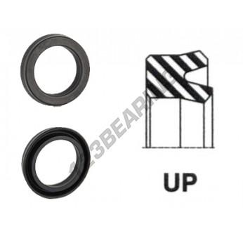 UP-17X26.80X5-6.60-NBR90 - 17x26.8x5 mm